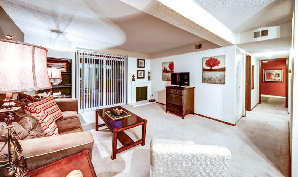 Living room at Chatham Hills Apartments