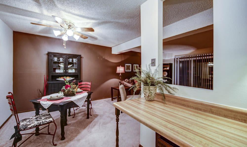 Dining room at Chatham Hills Apartments