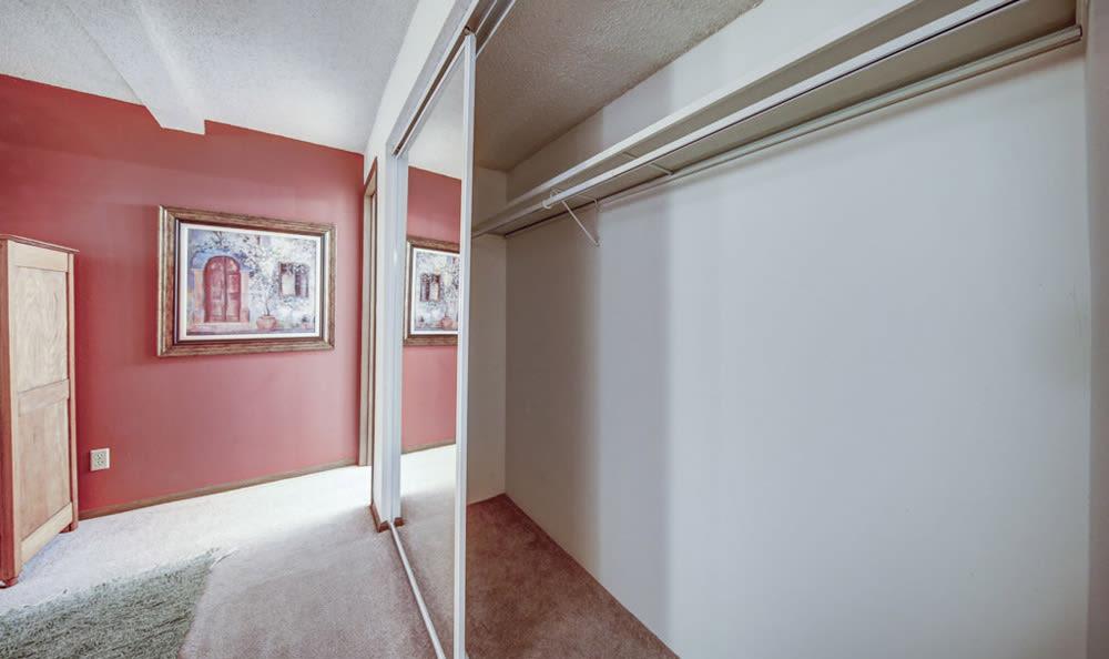 Interior Closet at Chatham Hills Apartments