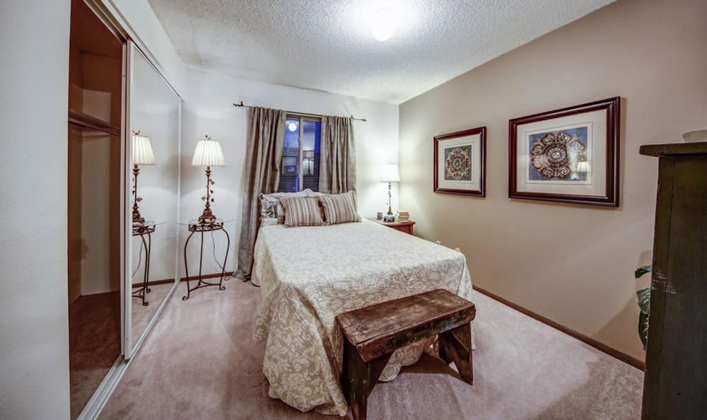 Interior bedroom at Chatham Hills Apartments