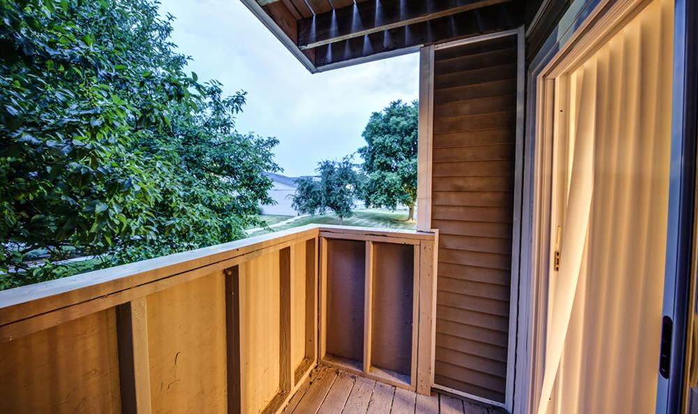Interior Patio at Chatham Hills Apartments