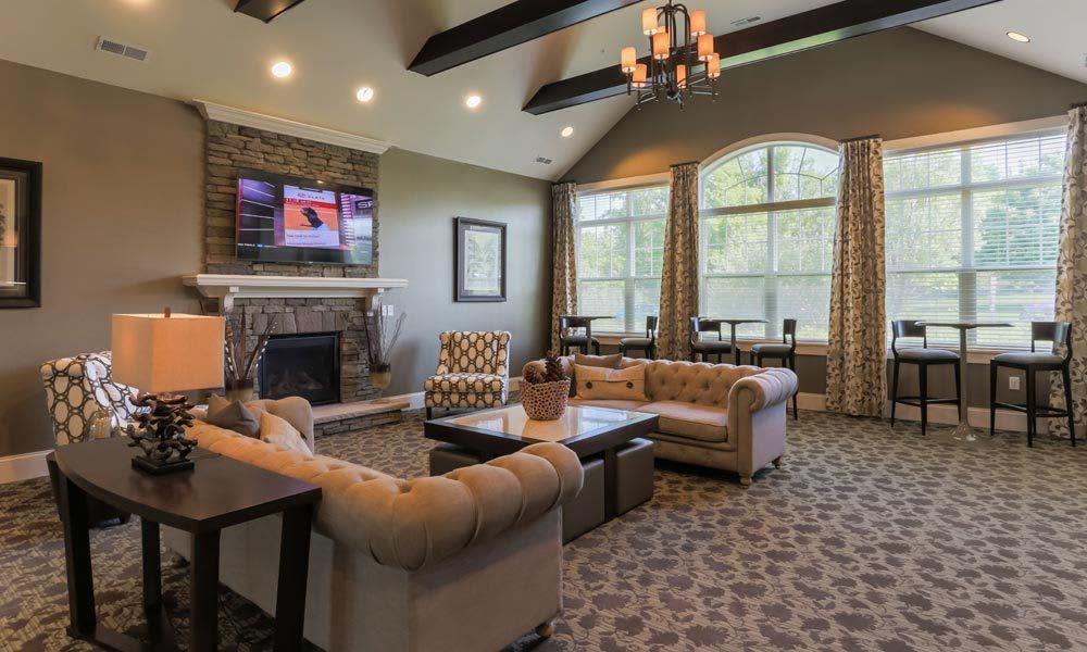 Clubhouse interior at Auburn Creek Apartments