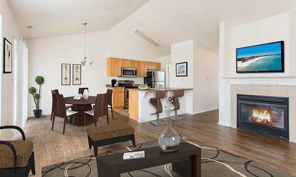 Luxury living room at Avon Commons in Avon