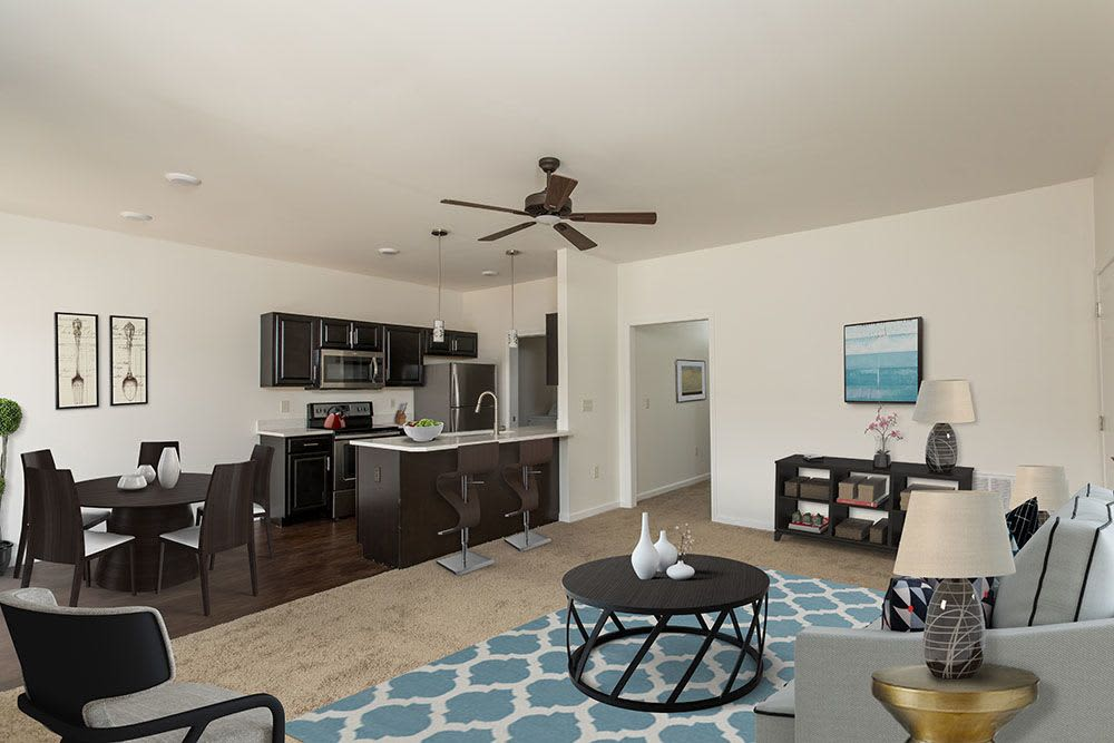 Avon Commons offers a newly updated living room in Avon, NY