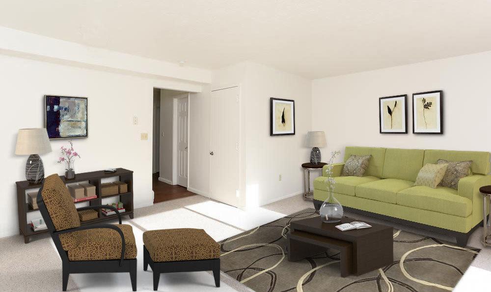 Enjoy a living room at Penbrooke Meadows luxury apartments