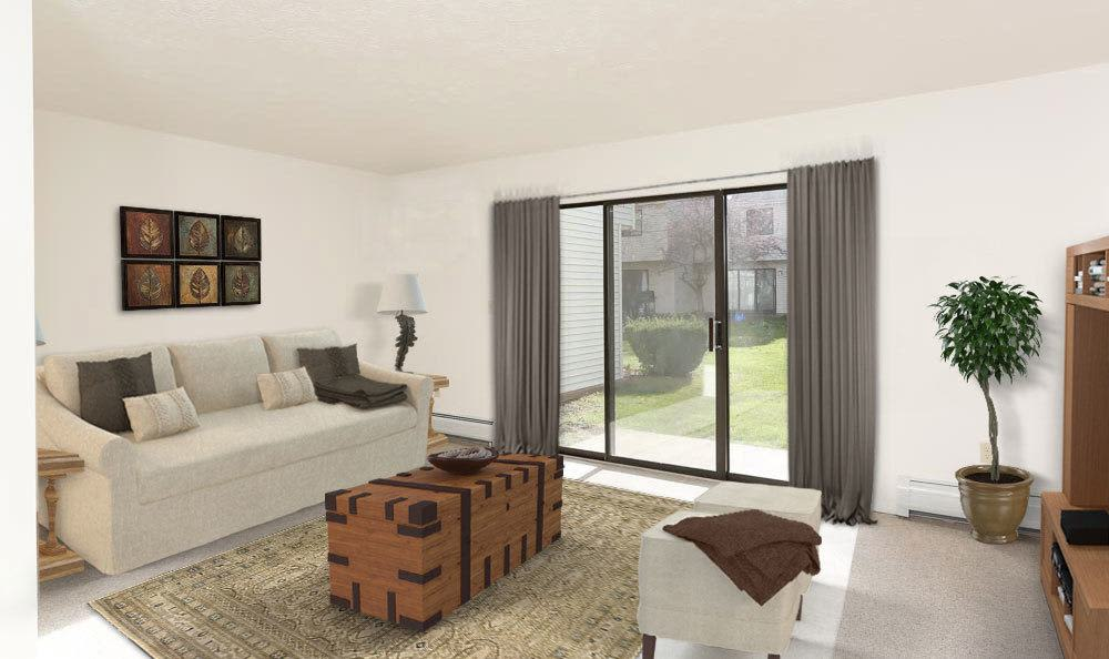 Our apartments in Penfield, NY showcase a cozy living room