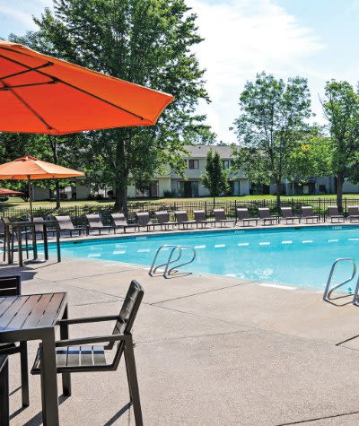 Penbrooke Meadows Apartments swimming pool in Penfield, NY