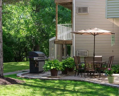 Patio at Penbrooke Meadows in Penfield, New York