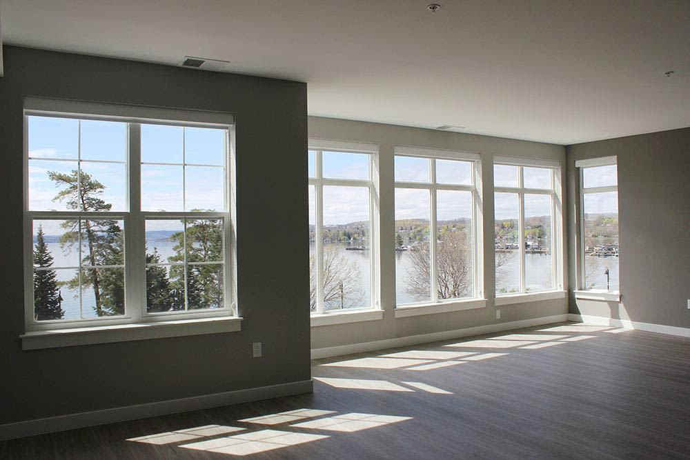Open floor plan space at Pinnacle North Apartments home in Canandaigua