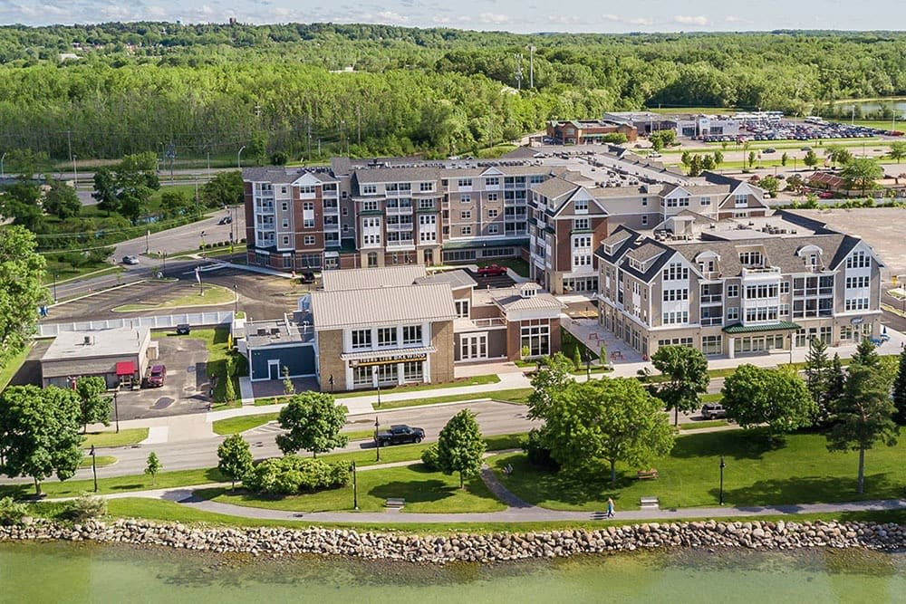 Pinnacle North Apartments community view in Canandaigua, NY