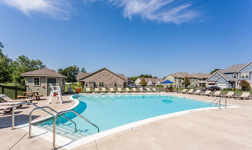 Refreshing pool at Saratoga Crossing in Farmington, NY