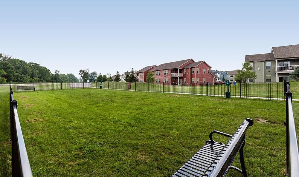 Dog park at Saratoga Crossing in Farmington, NY