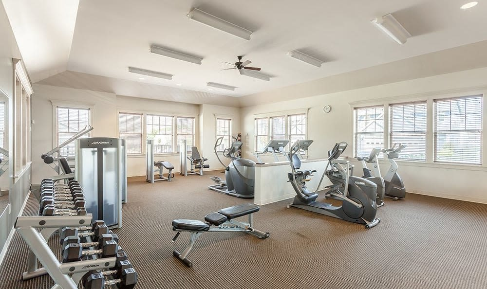 Fitness center at Saratoga Crossing in Farmington, NY