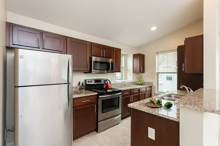Our apartments in Farmington, NY showcase a beautiful kitchen