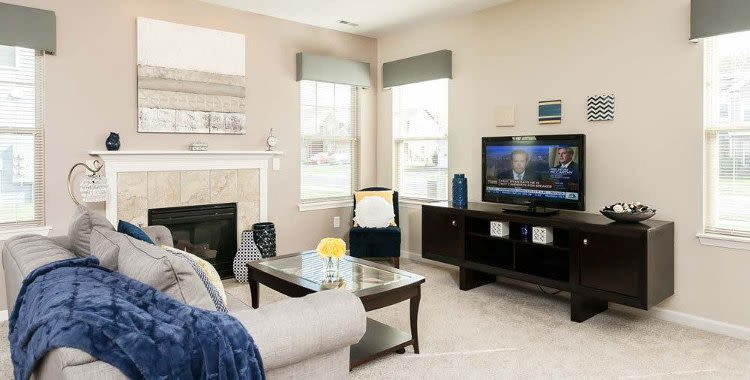 Enjoy a living room at Saratoga Crossing luxury apartments