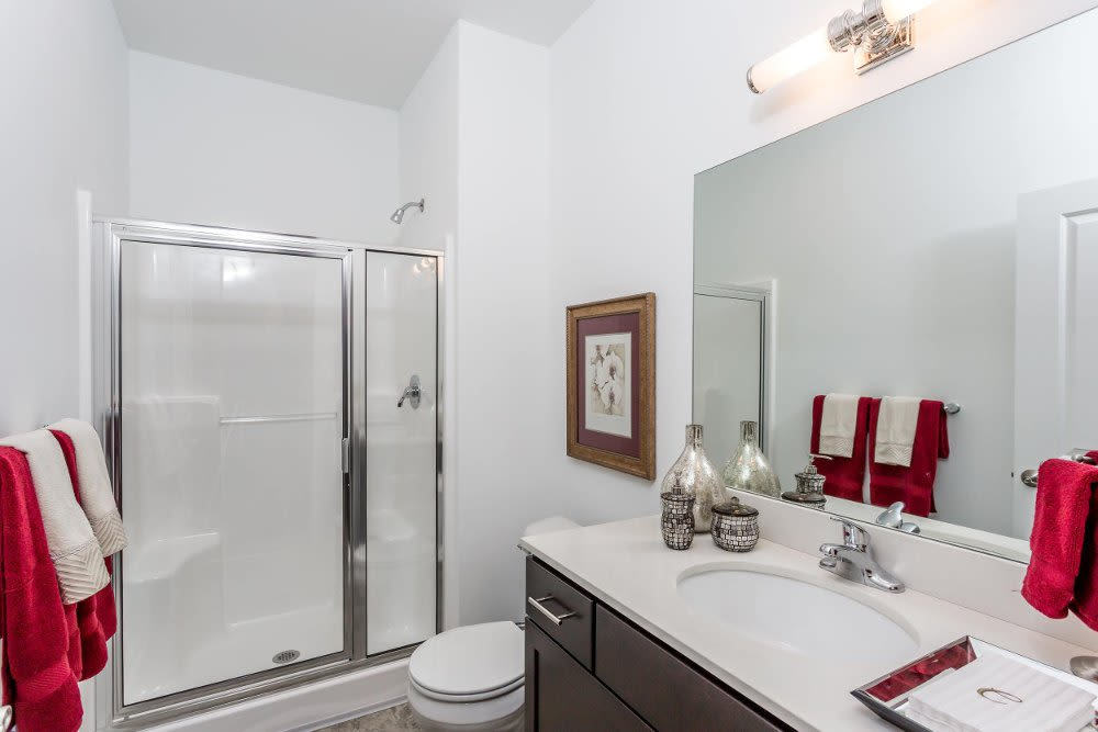 Bathroom at The Links at CenterPointe Townhomes home