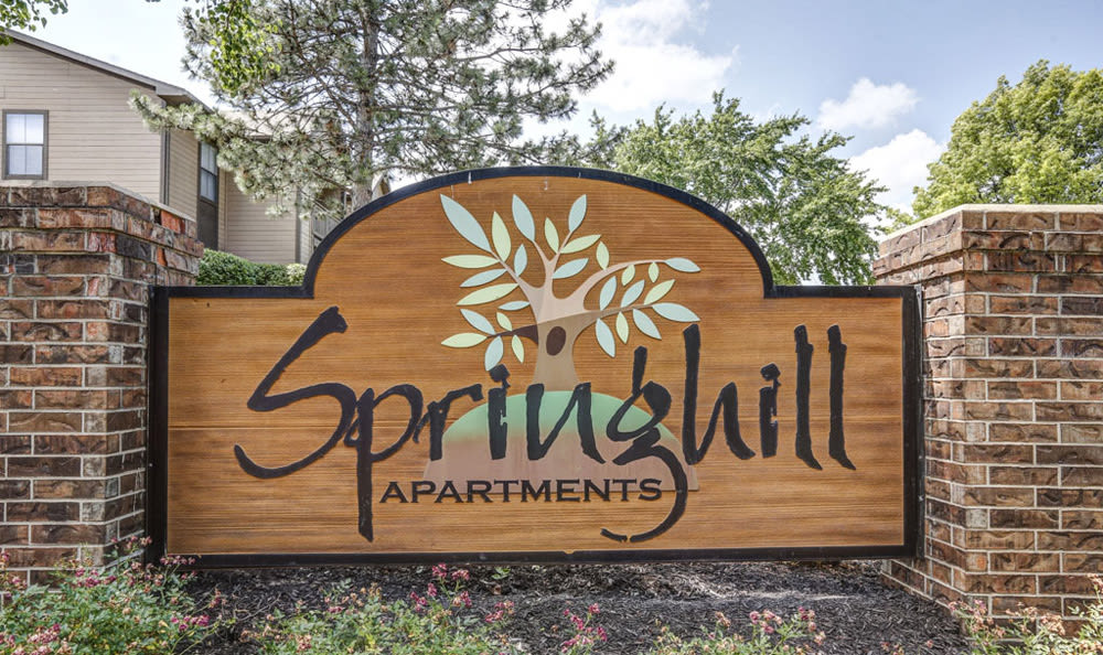 Entrance Sign at Springhill Apartments