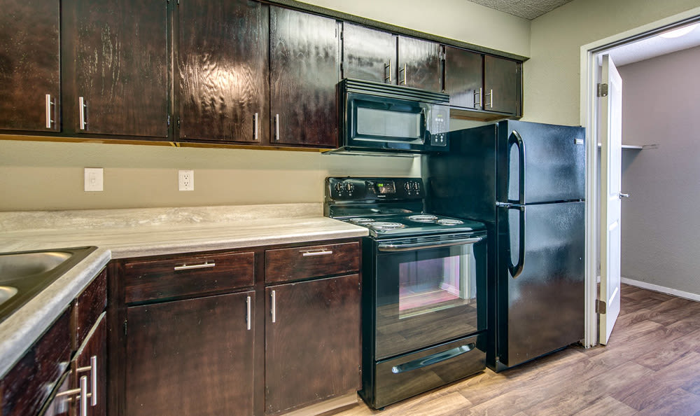 Townhome Kitchen at Springhill Apartments