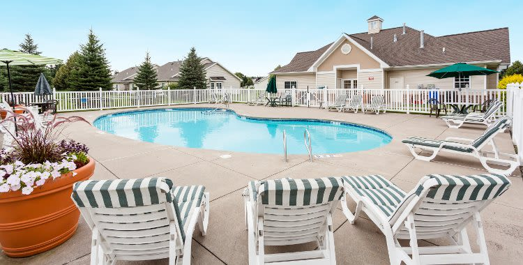 Villas of Victor and Regency Townhomes swimming pool in Victor, NY