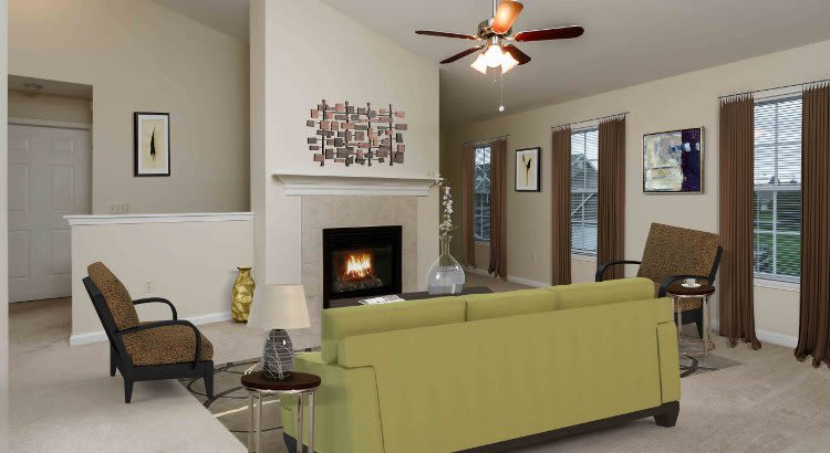 Luxury living room at Villas of Victor and Regency Townhomes