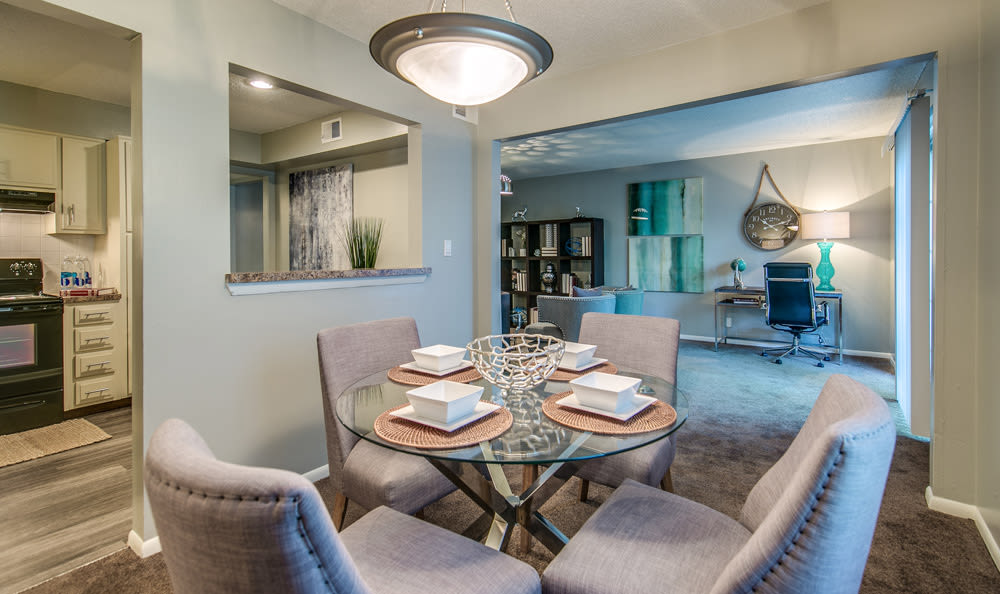 Dining room at London House Apartments