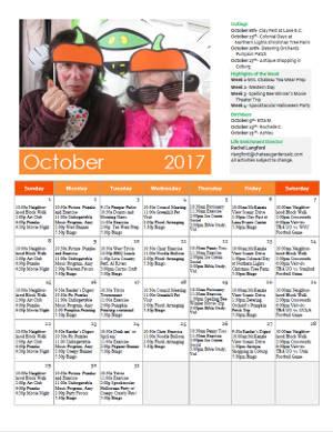 October Calendar mini