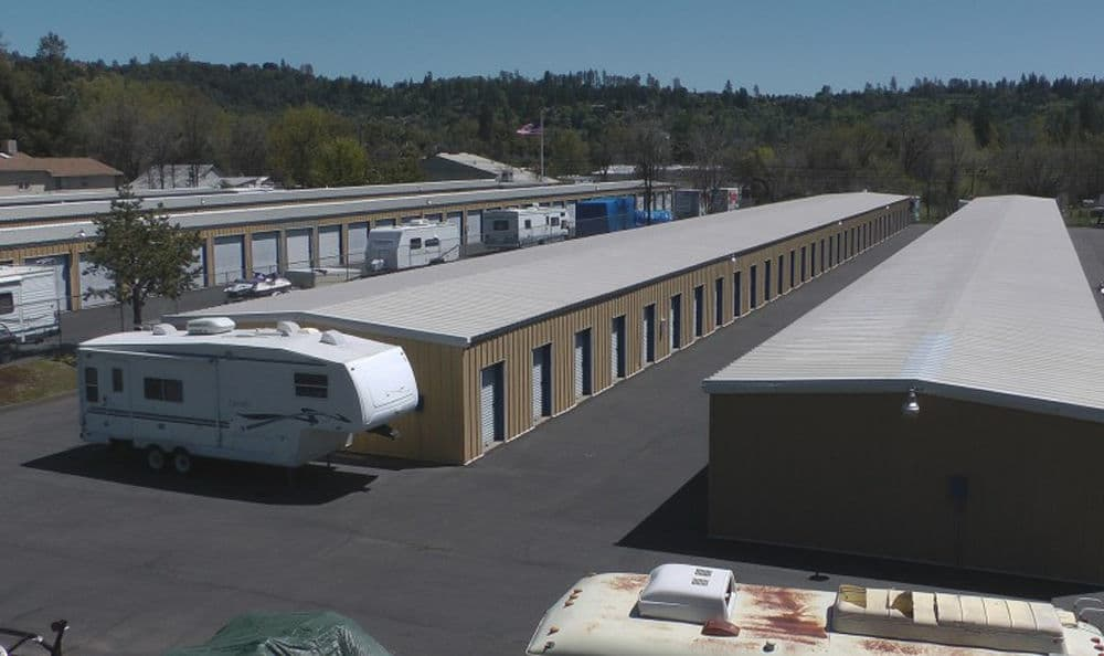 Aerial view of our self storage units in Sonora
