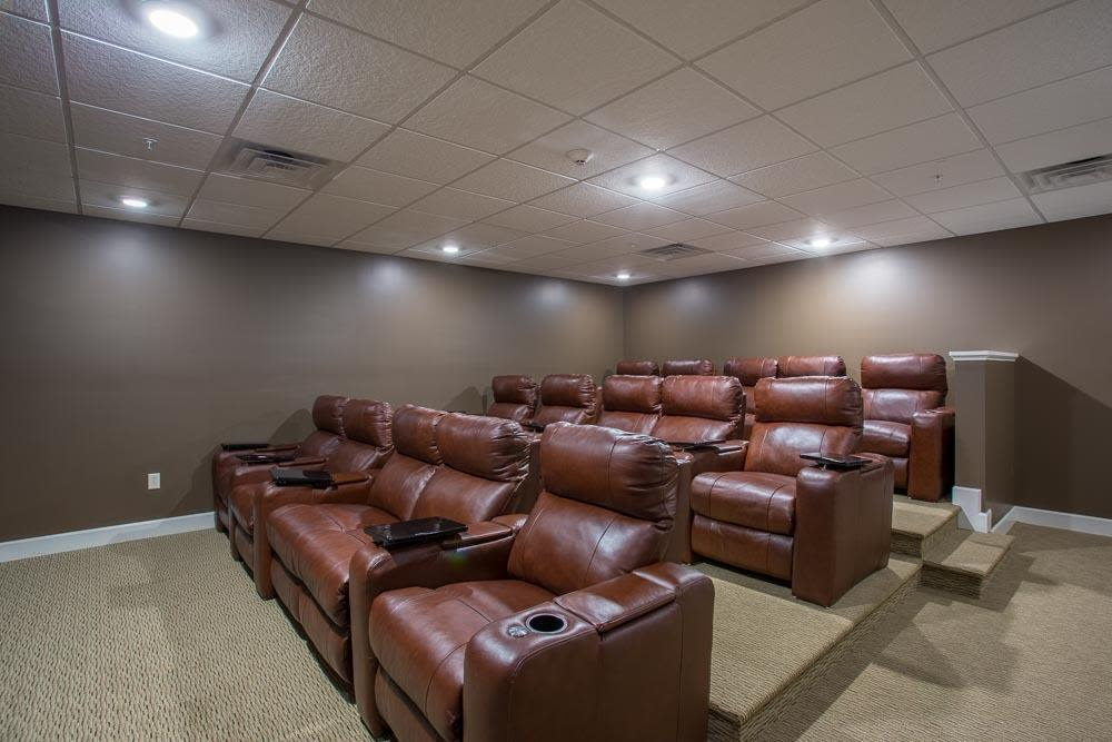 Theater Room at The Marquis at the Woods in Webster, NY