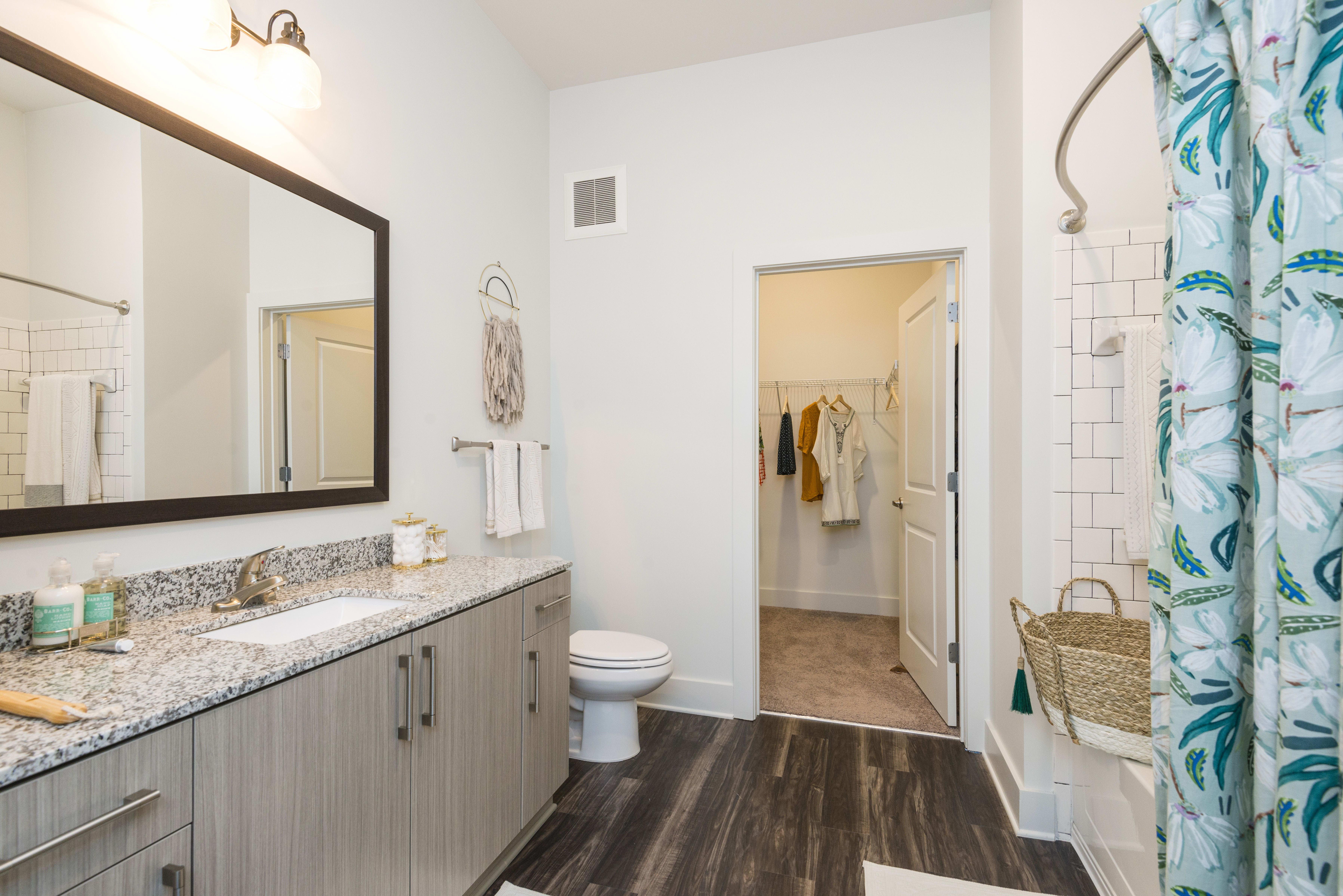 Spacious bathroom at Olmsted Chamblee