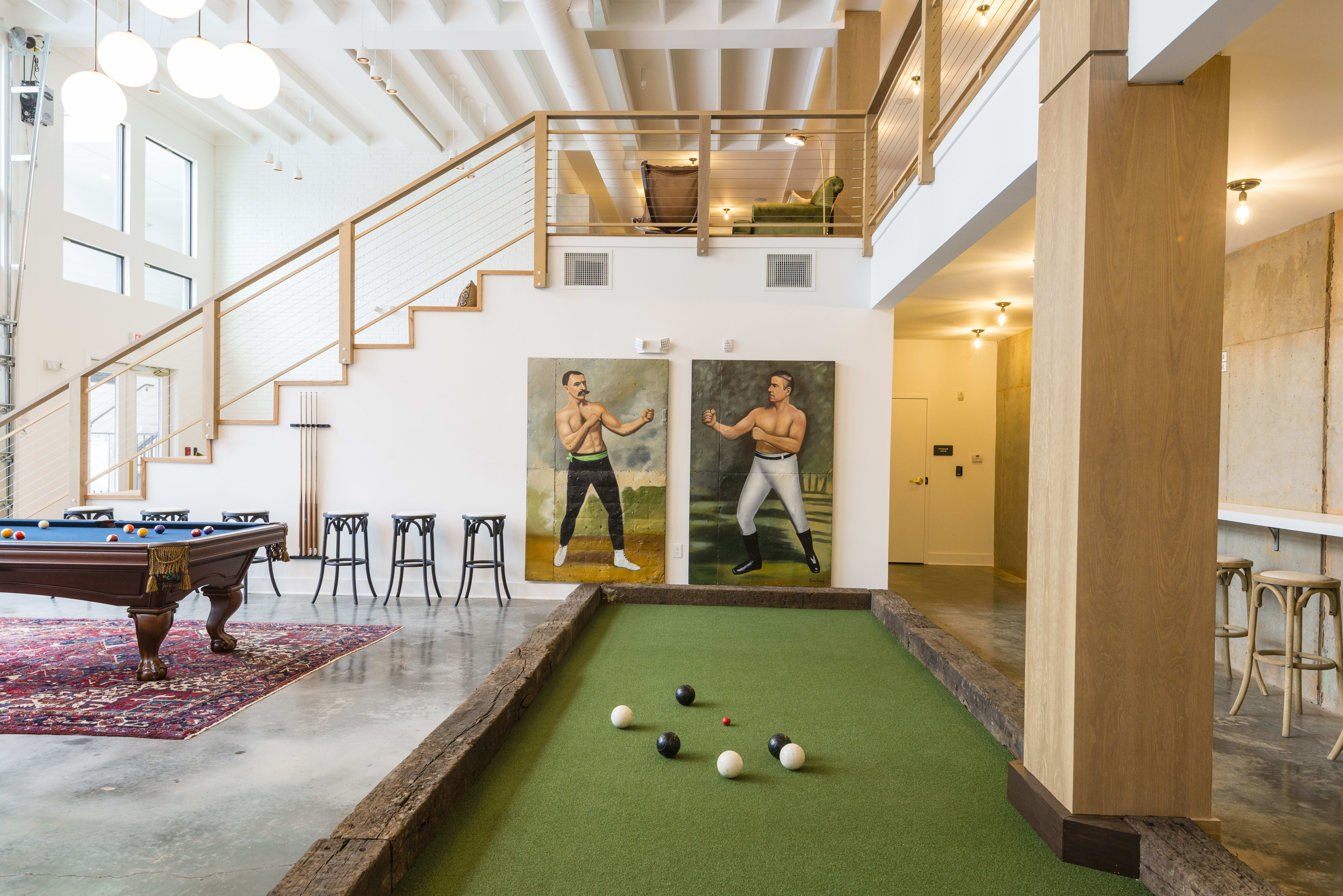 Community clubhouse at apartments in Chamblee