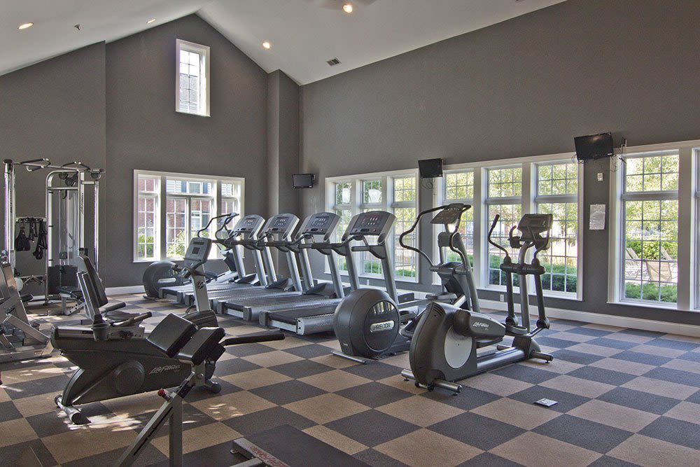 Beautiful fitness center at Preston Gardens in Perrysburg, OH