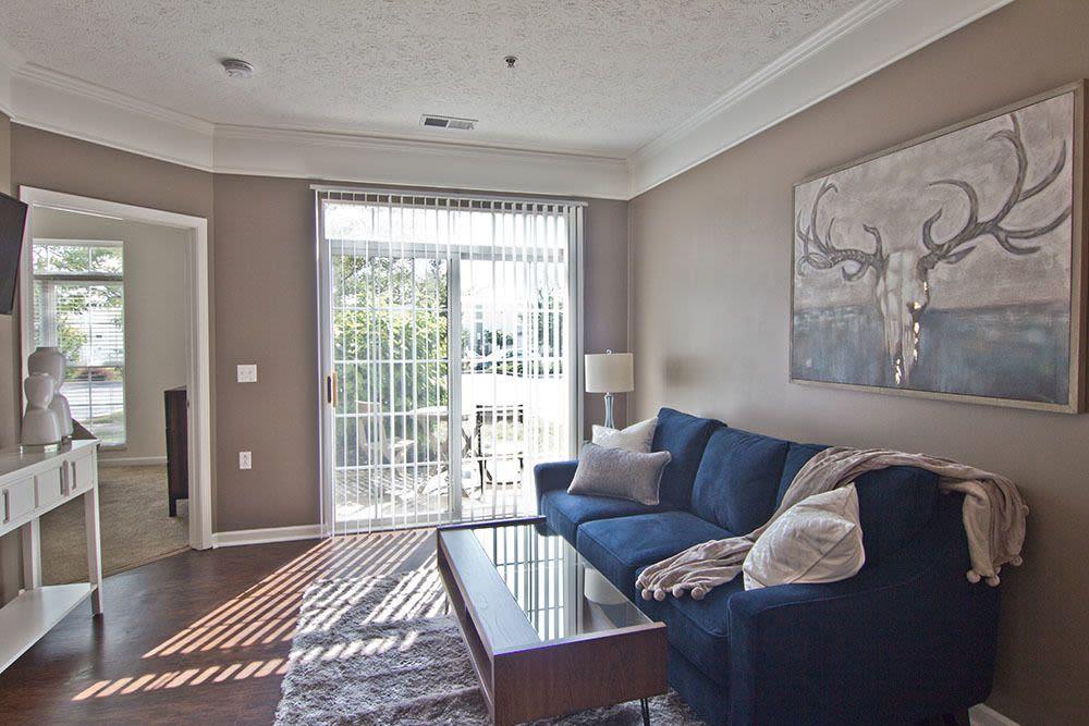 Beautiful living room at Preston Gardens in Perrysburg, Ohio