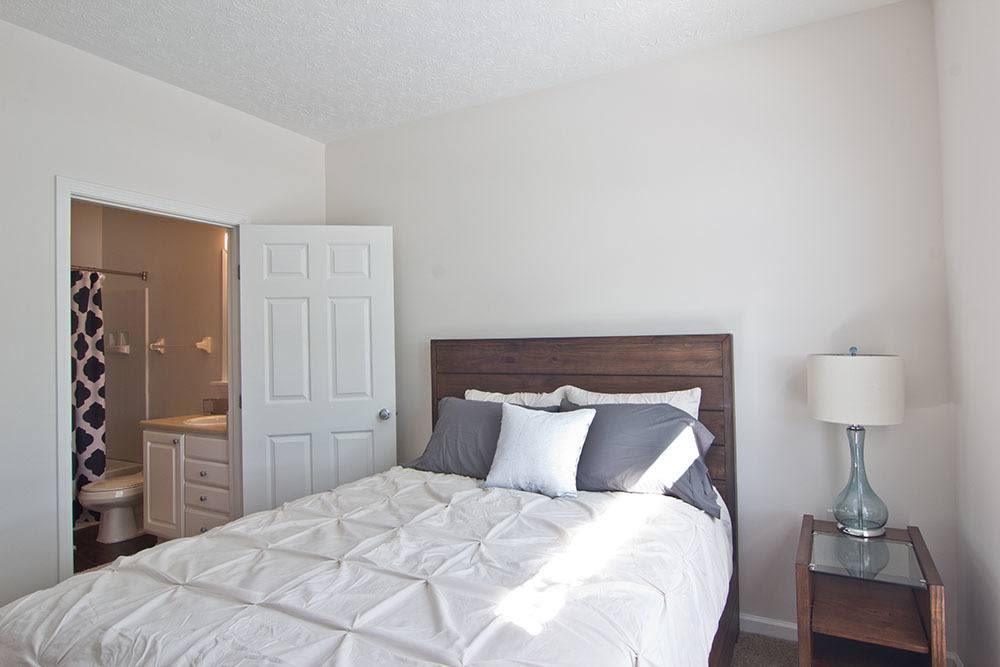 Beautiful bedroom at Preston Gardens in Perrysburg, OH