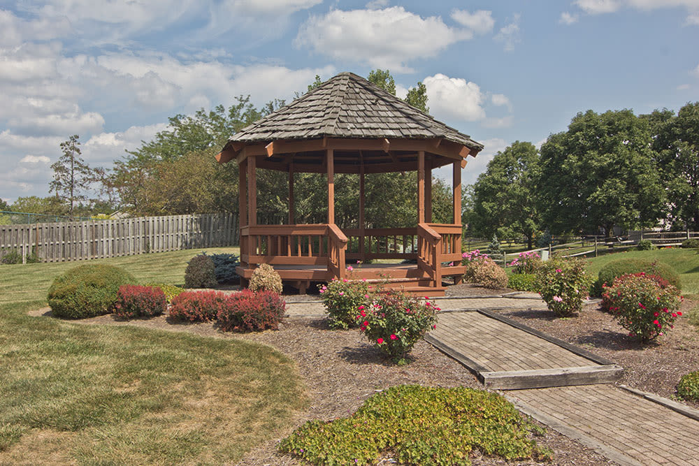 Beautiful gazebo At Perry's Crossing Apartments In Perrysburg OH