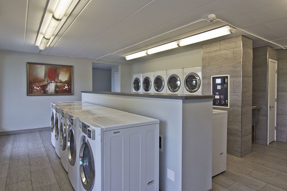 Laundry facility at apartments in Richton Park, Illinois