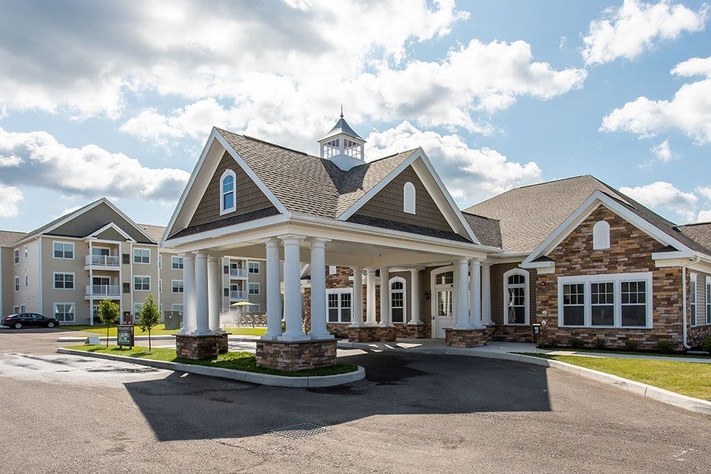 Beautiful clubhouse at The Landings at Meadowood in Baldwinsville, New York