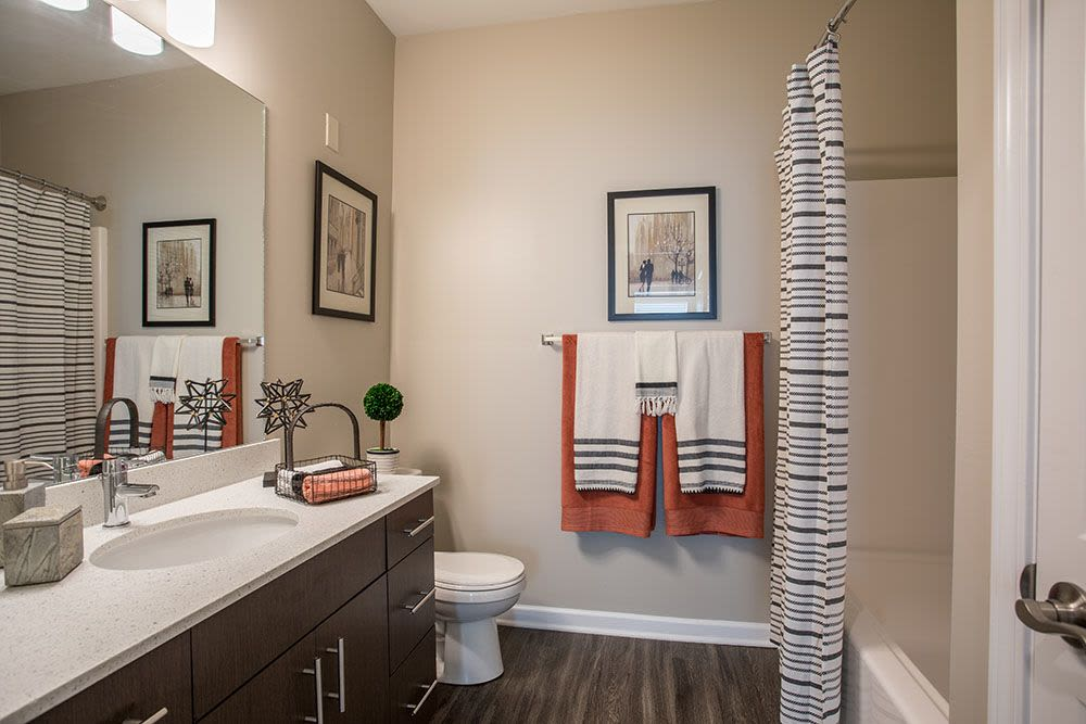 Beautiful bathroom at The Landings at Meadowood in Baldwinsville, New York