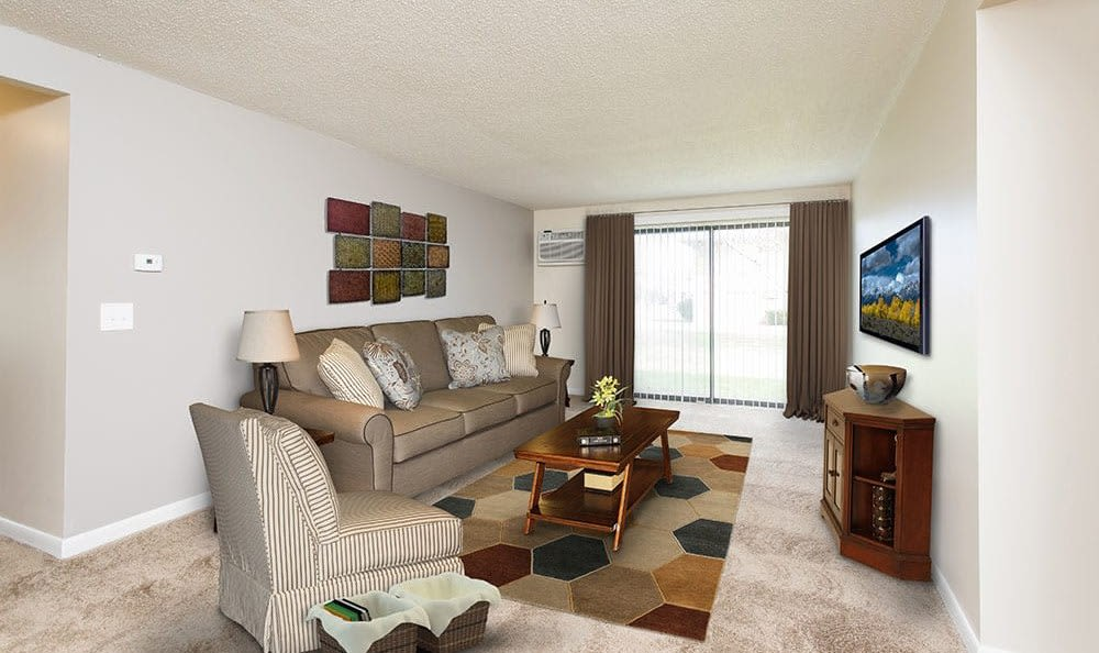 Ample living space at Crossroads Apartments in Spencerport