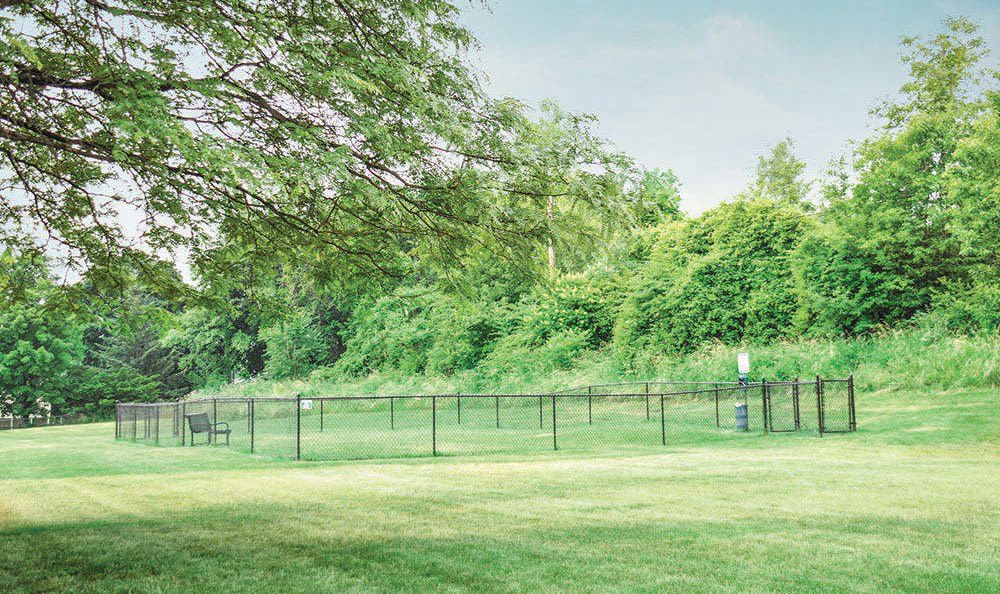 Dog park at Crossroads Apartments in Spencerport, NY