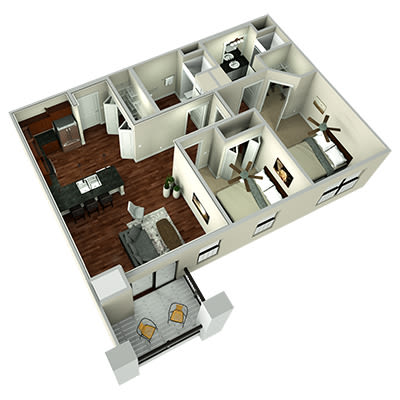 Mission two bedroom floor plan