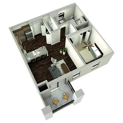 Plaza one bedroom floor plan