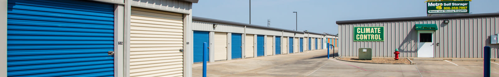 Contact us for your self storage needs in Amarillo