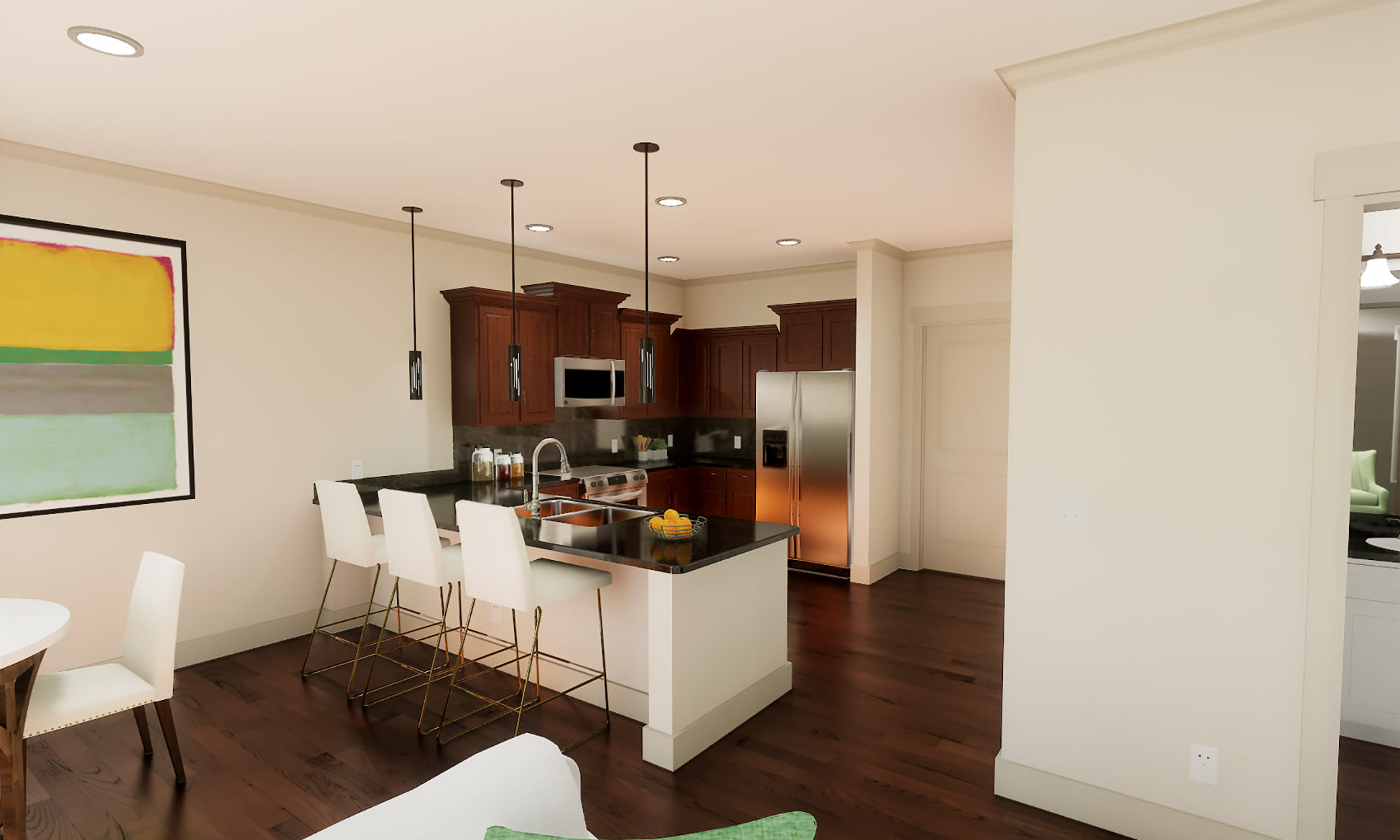 Spacious and well-designed floor plan at The Fairways of Ironhorse in Leawood