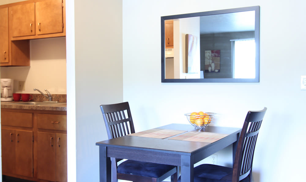 Breakfast nook at apartment home at Columbus Park in Bedford Heights