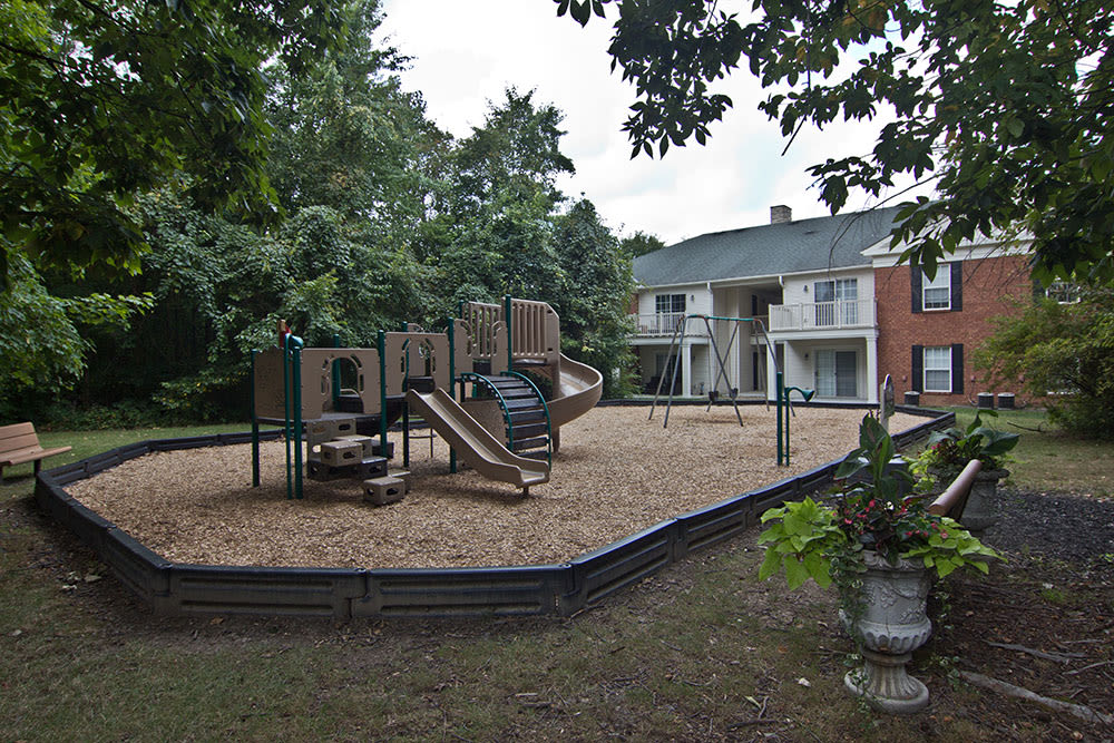 A playground is onsite for your enjoyment at The Woods at Polaris Parkway