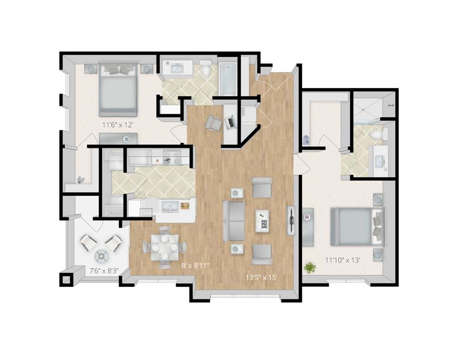 2 bedroom apartments in melbourne fl for Apartment floor plans melbourne