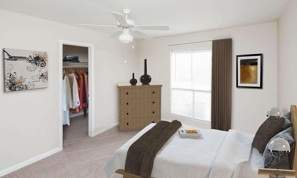Spacious bedroom at Morgan Bay in Houston