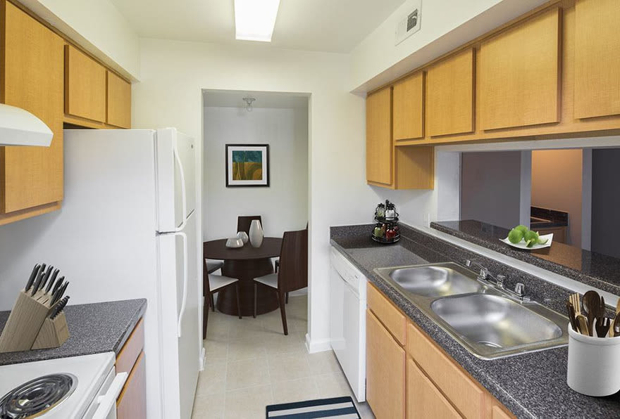 Morgan Bay apartments have modern and up-to-date kitchens