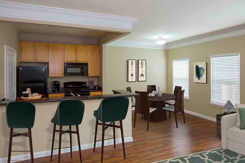 Hardwood floors offered at Atkins Circle Apartments in Charlotte