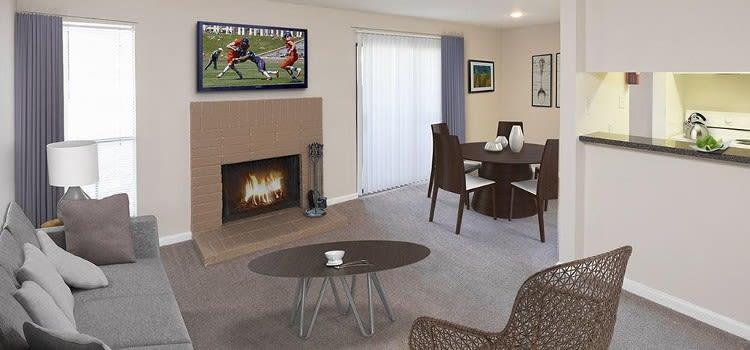 Spacious living room at Morgan Bay home